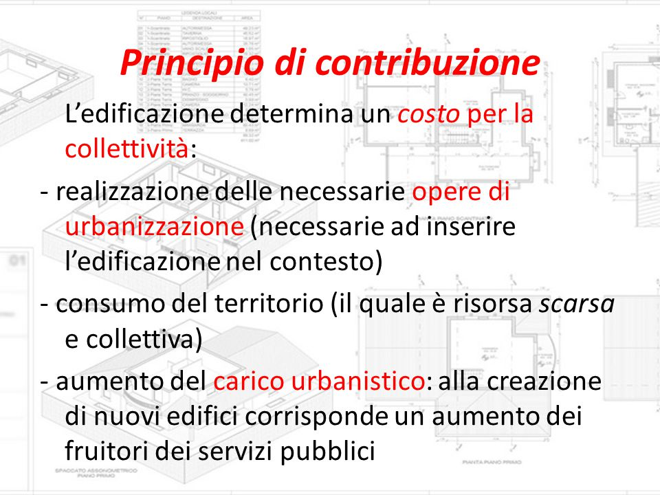 Principio di contribuzione