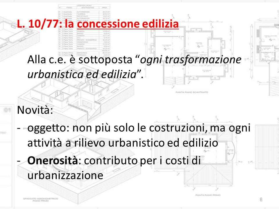 L. 10/77: la concessione edilizia