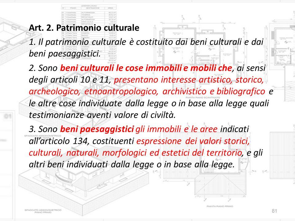 Art. 2. Patrimonio culturale 1