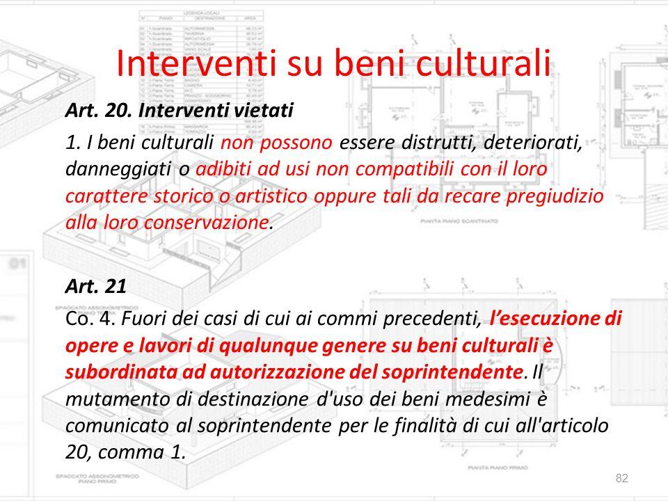 Interventi su beni culturali