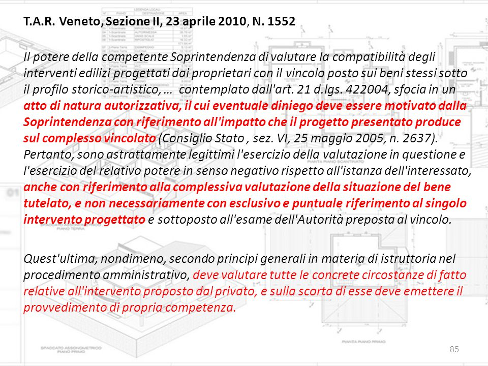 T. A. R. Veneto, Sezione II, 23 aprile 2010, N