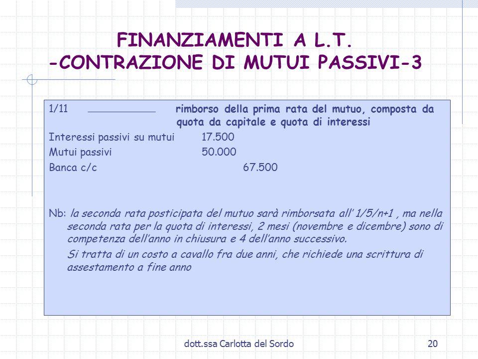 FINANZIAMENTI A L.T. -CONTRAZIONE DI MUTUI PASSIVI-3