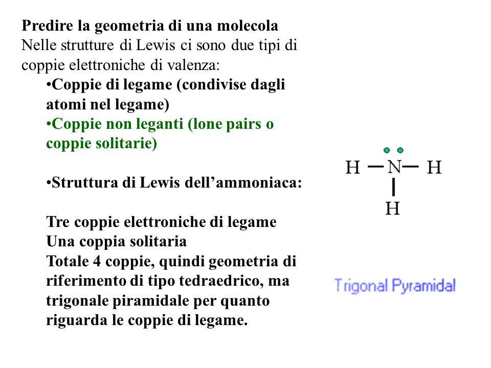 Predire la geometria di una molecola