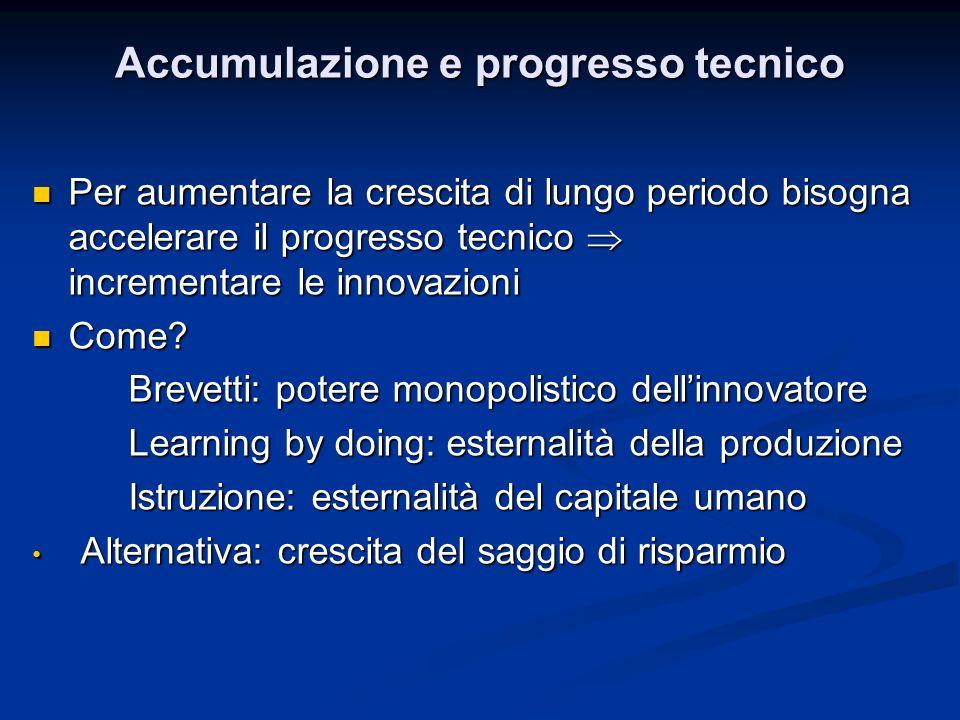 Accumulazione e progresso tecnico