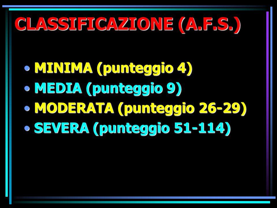 CLASSIFICAZIONE (A.F.S.)