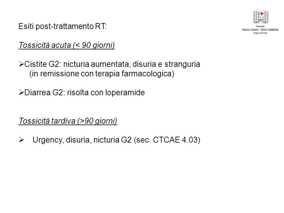 Esiti post-trattamento RT: