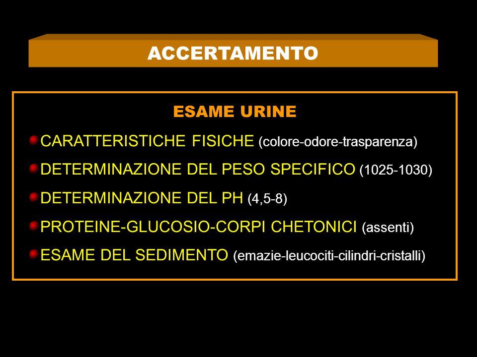 ACCERTAMENTO ESAME URINE