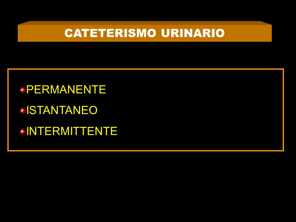 CATETERISMO URINARIO PERMANENTE ISTANTANEO INTERMITTENTE