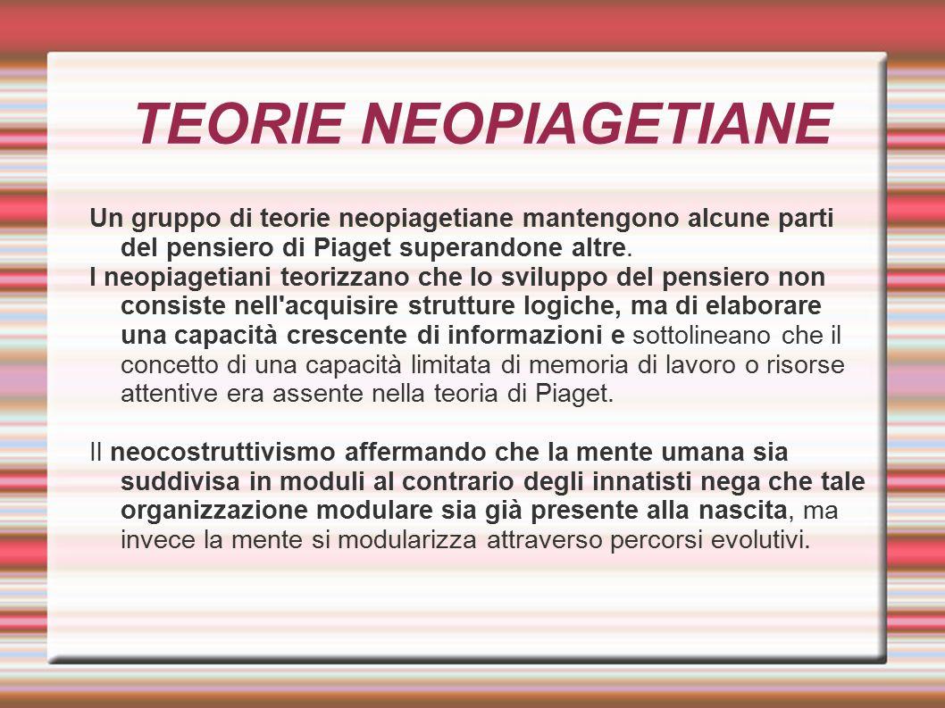 TEORIE NEOPIAGETIANE