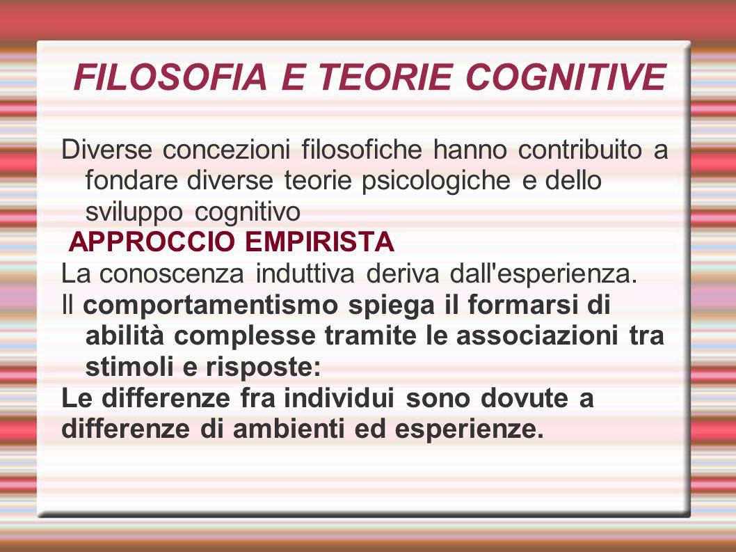 FILOSOFIA E TEORIE COGNITIVE