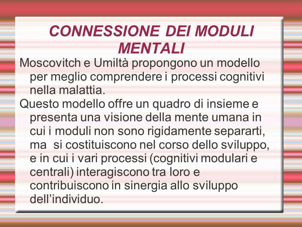 CONNESSIONE DEI MODULI MENTALI