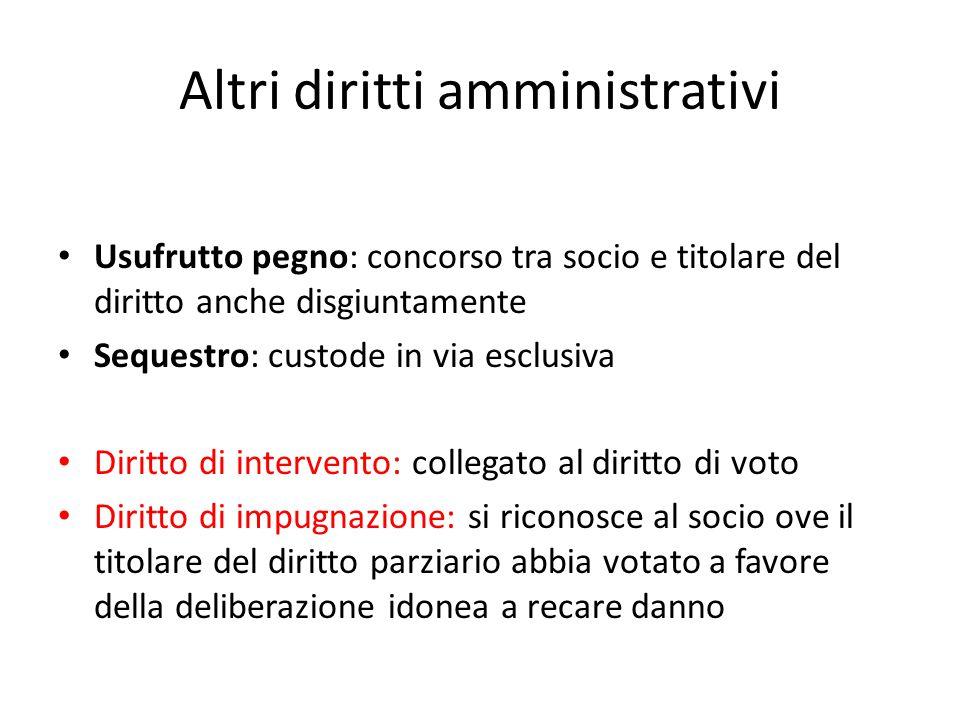 Altri diritti amministrativi