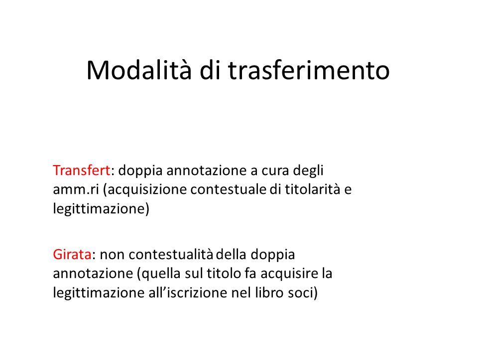 Modalità di trasferimento