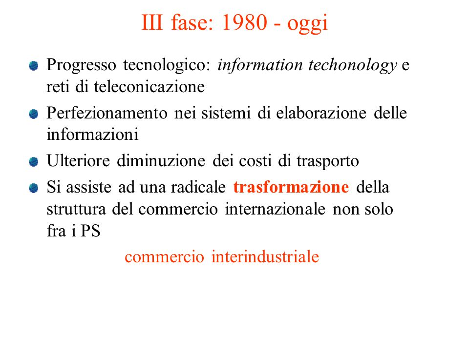 commercio interindustriale