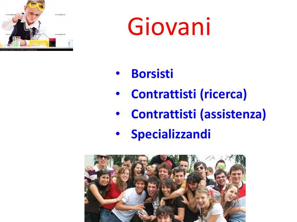 Giovani Borsisti Contrattisti (ricerca) Contrattisti (assistenza)
