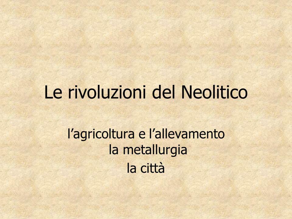 Le rivoluzioni del Neolitico