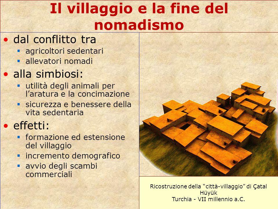 Il villaggio e la fine del nomadismo