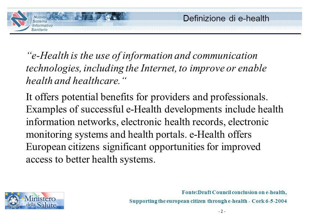Definizione di e-health