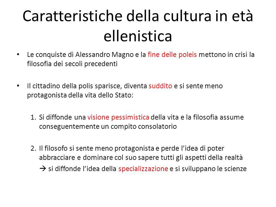 Caratteristiche della cultura in età ellenistica