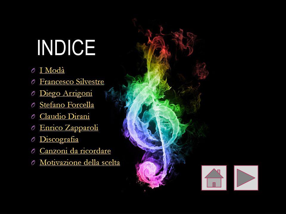 INDICE I Modà Francesco Silvestre Diego Arrigoni Stefano Forcella
