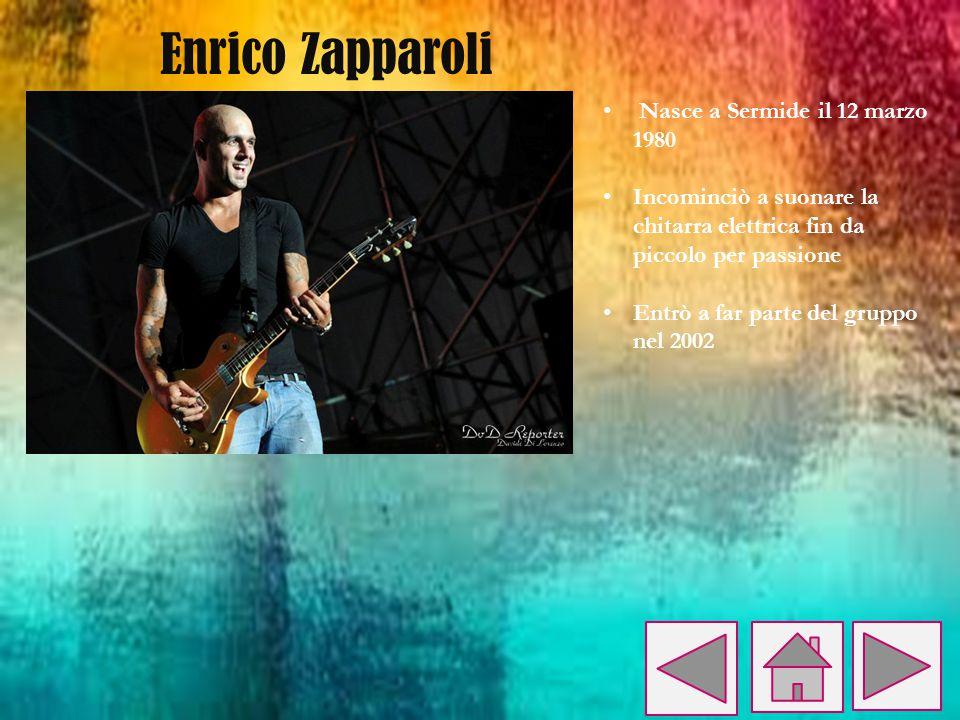 Enrico Zapparoli Nasce a Sermide il 12 marzo 1980