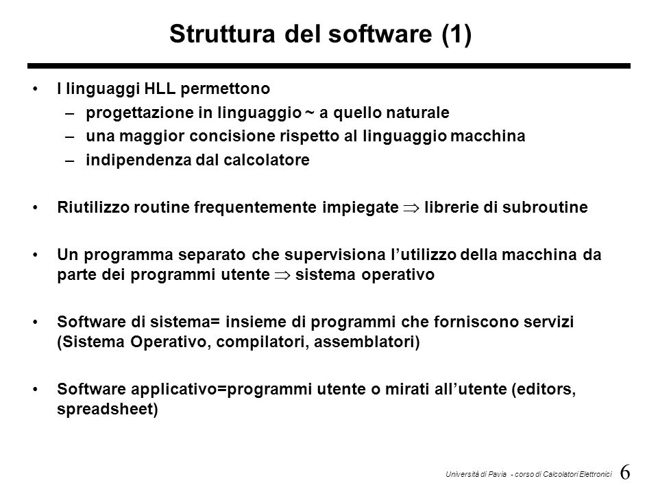 Struttura del software (1)