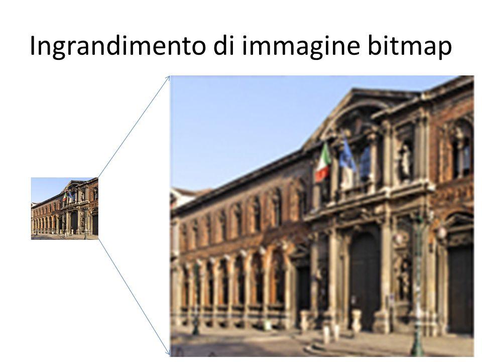 Ingrandimento di immagine bitmap