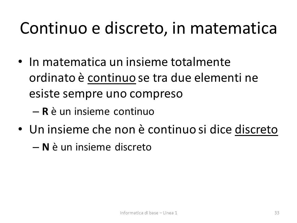 Continuo e discreto, in matematica
