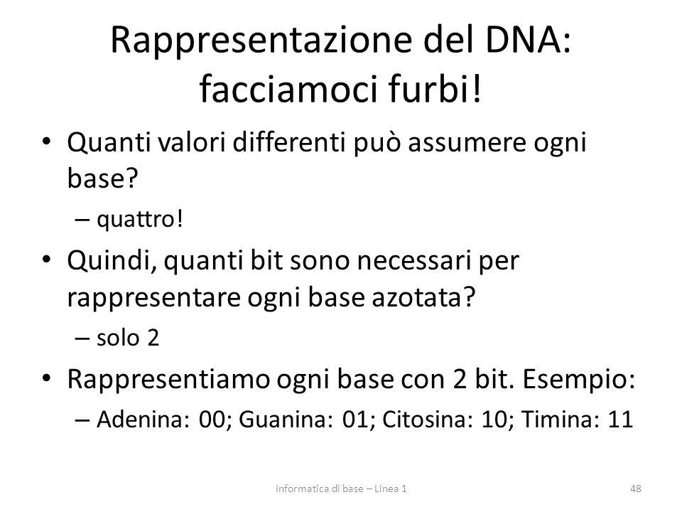 Rappresentazione del DNA: facciamoci furbi!