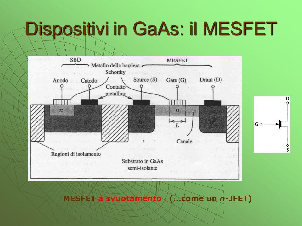 Dispositivi in GaAs: il MESFET