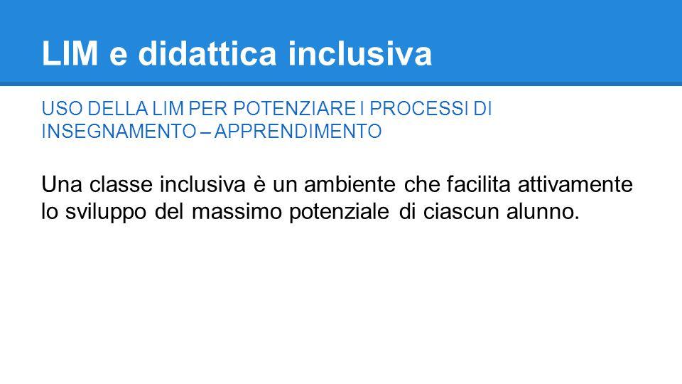 LIM e didattica inclusiva