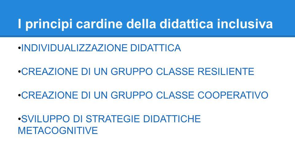 I principi cardine della didattica inclusiva