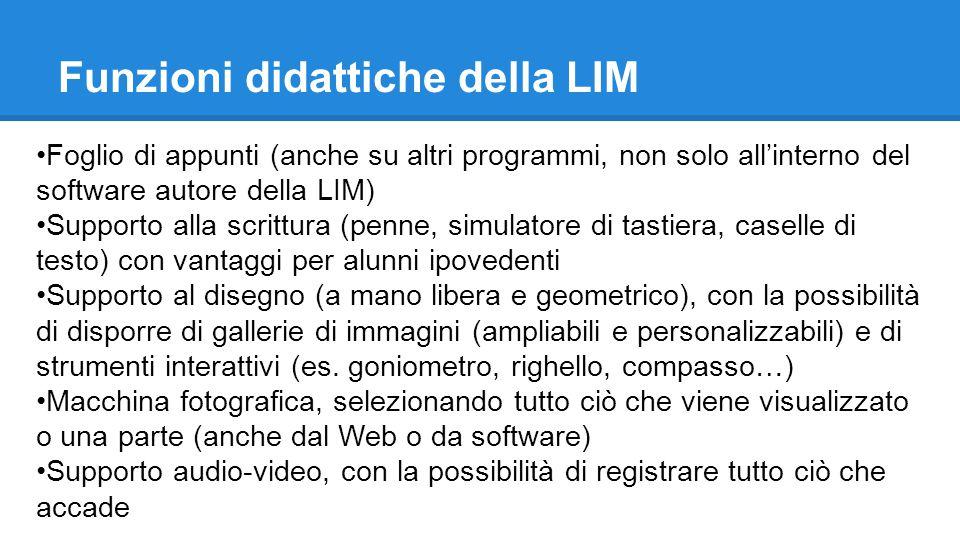Funzioni didattiche della LIM