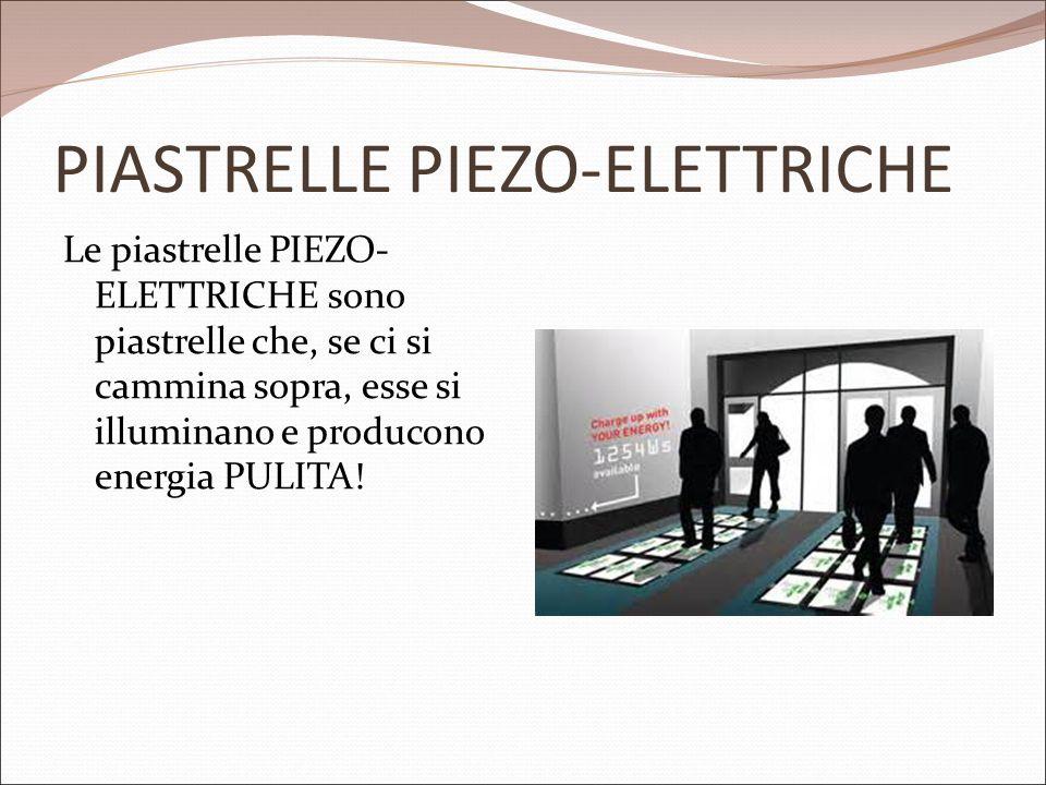PIASTRELLE PIEZO-ELETTRICHE