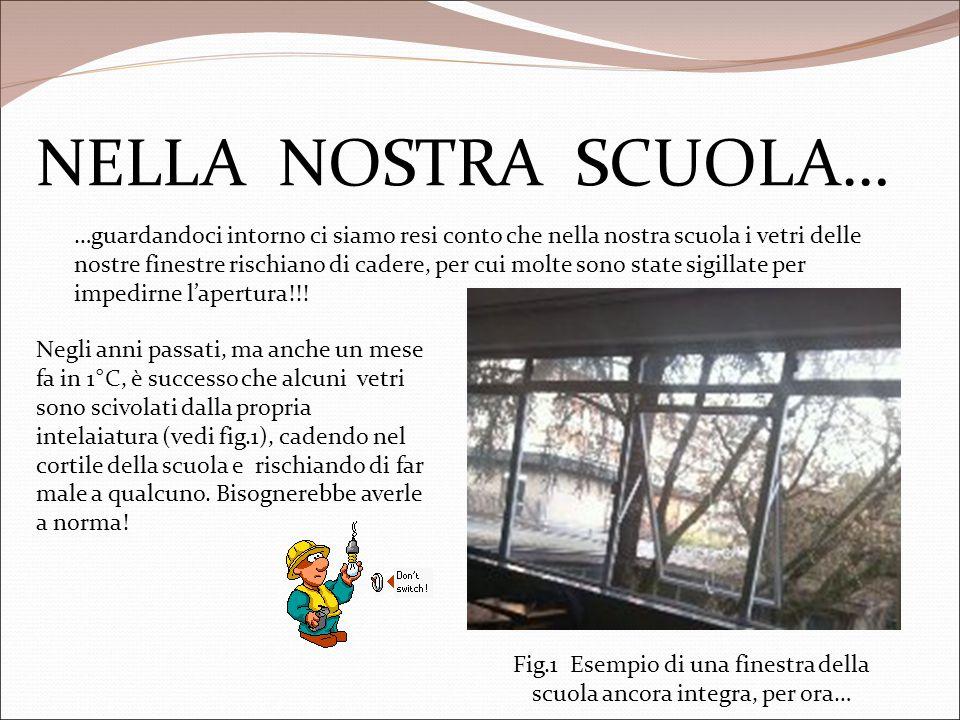 Fig.1 Esempio di una finestra della scuola ancora integra, per ora…
