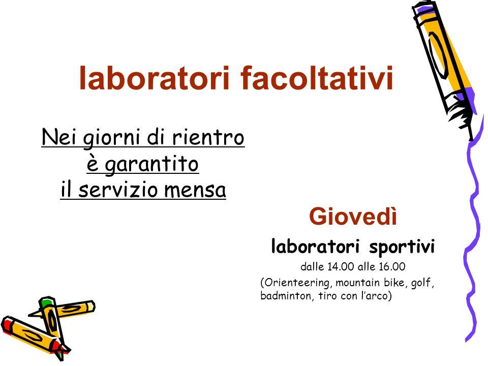 laboratori facoltativi