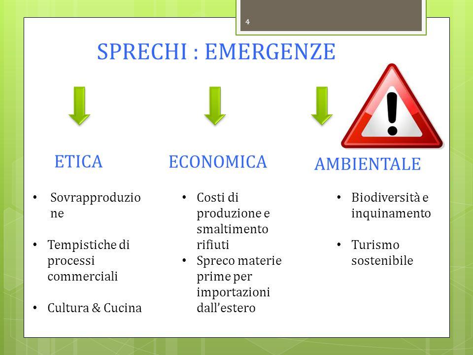 ETICA ECONOMICA AMBIENTALE SPRECHI : EMERGENZE Sovrapproduzione