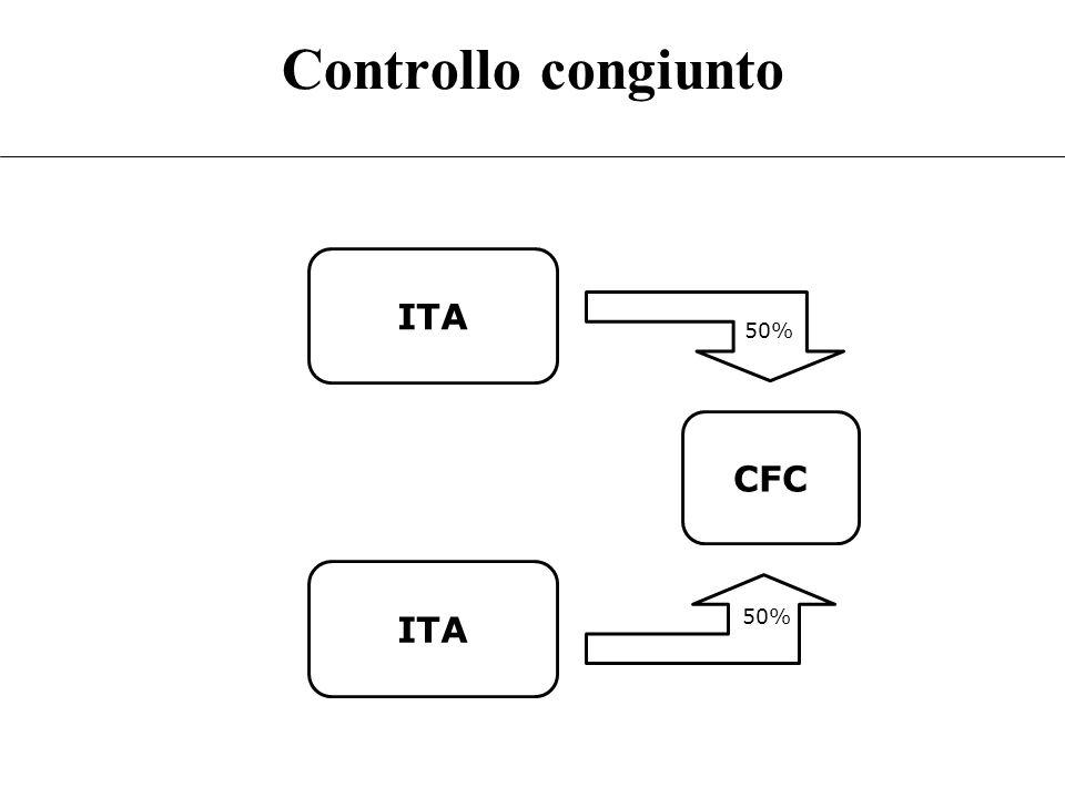 Controllo congiunto ITA CFC 50% 50%