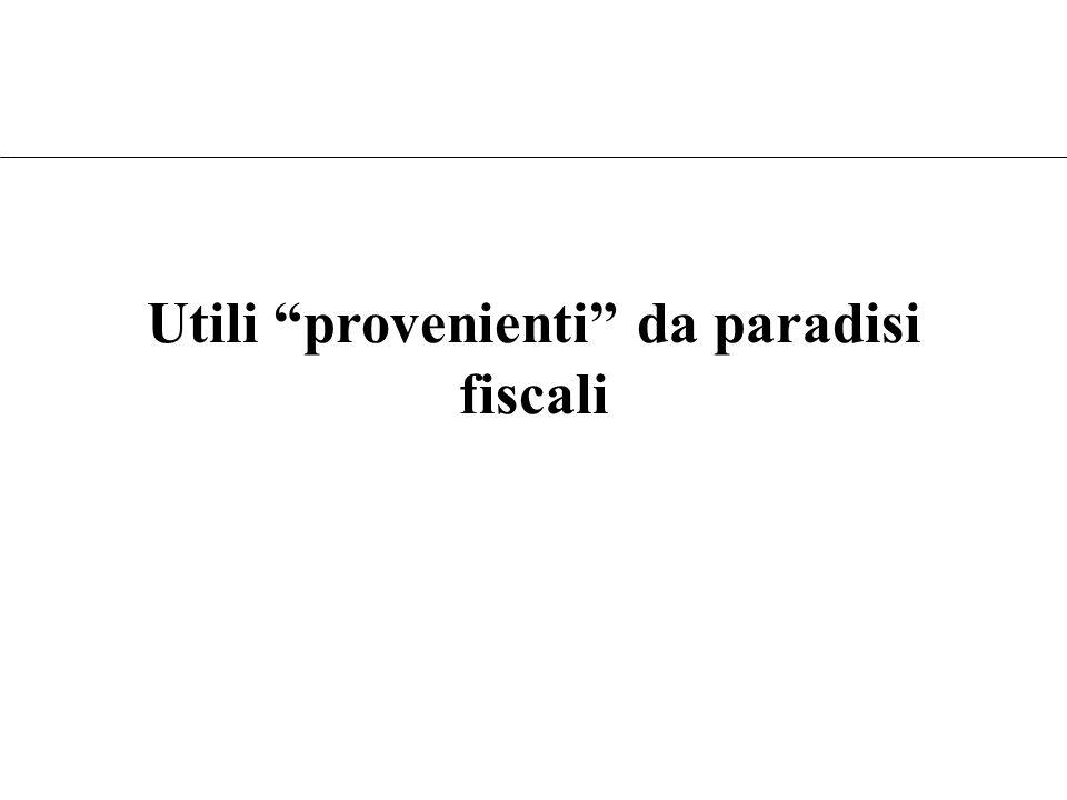 Utili provenienti da paradisi fiscali