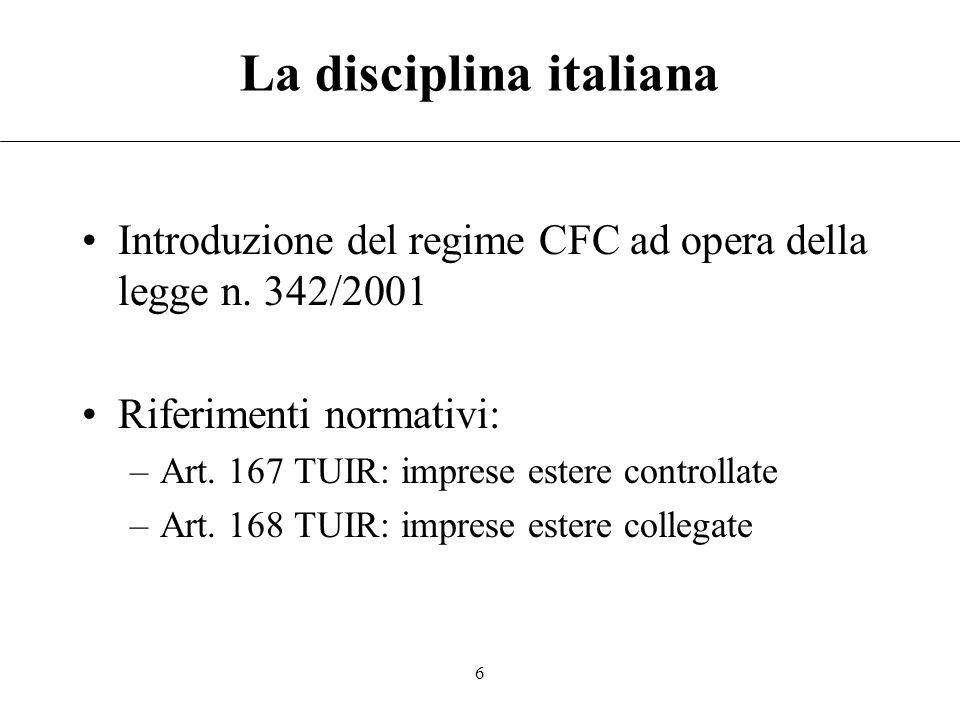 La disciplina italiana
