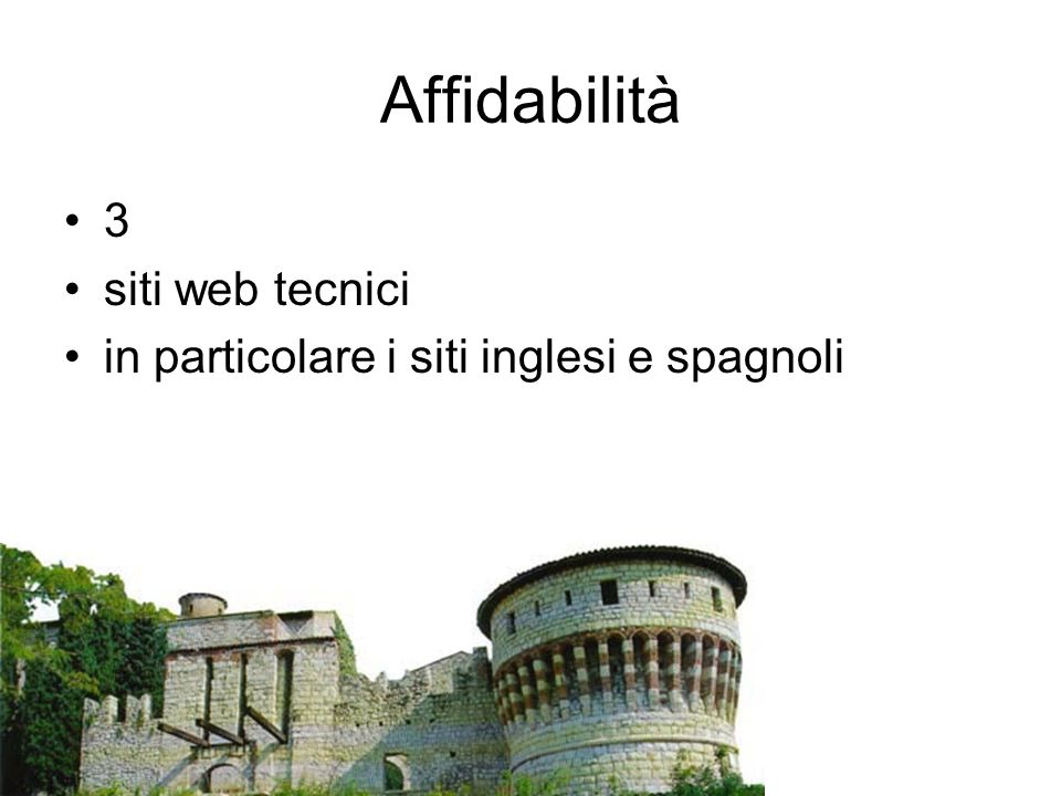 Affidabilità 3 siti web tecnici