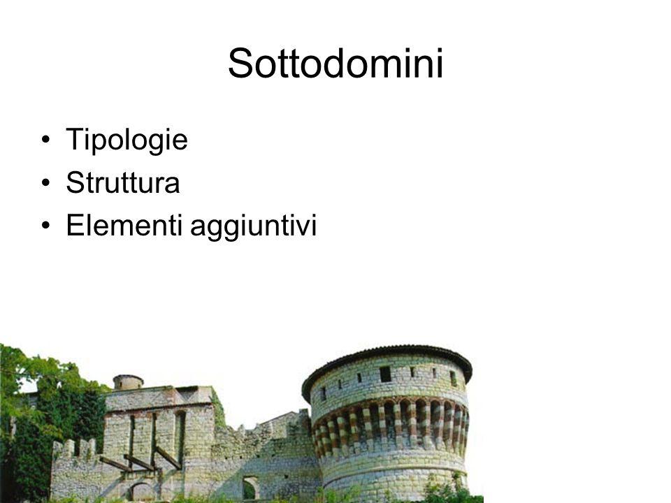 Sottodomini Tipologie Struttura Elementi aggiuntivi