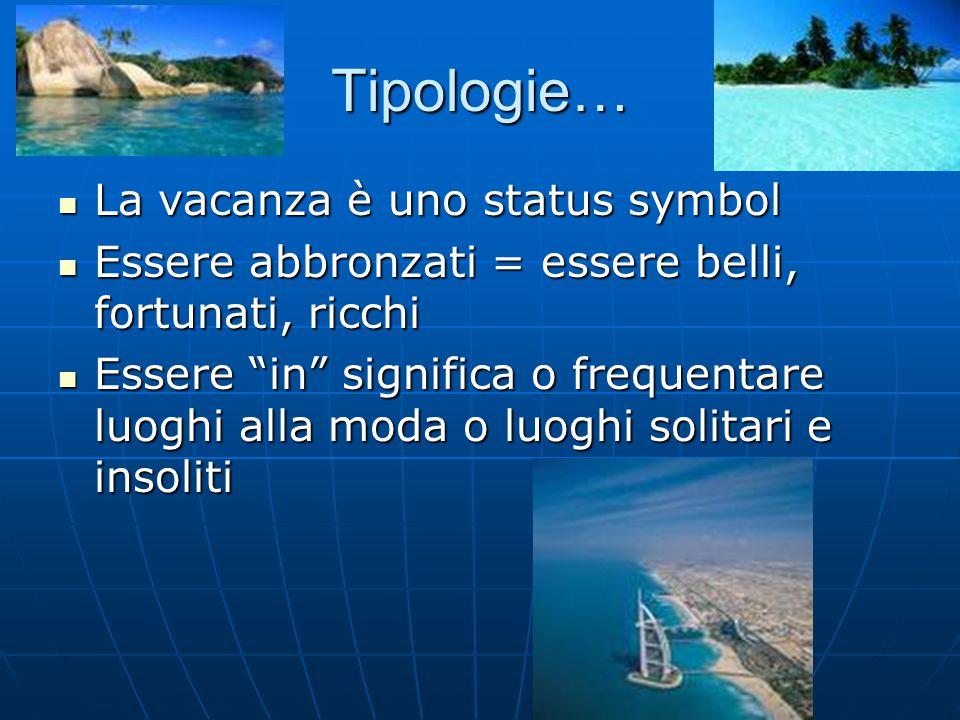 Tipologie… La vacanza è uno status symbol