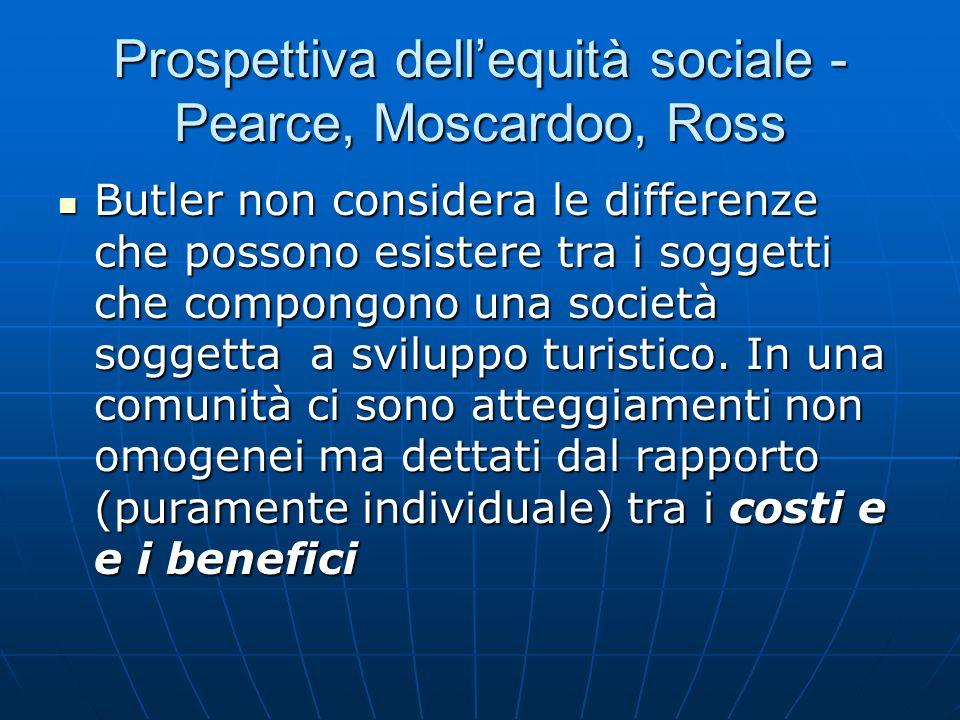 Prospettiva dell'equità sociale - Pearce, Moscardoo, Ross