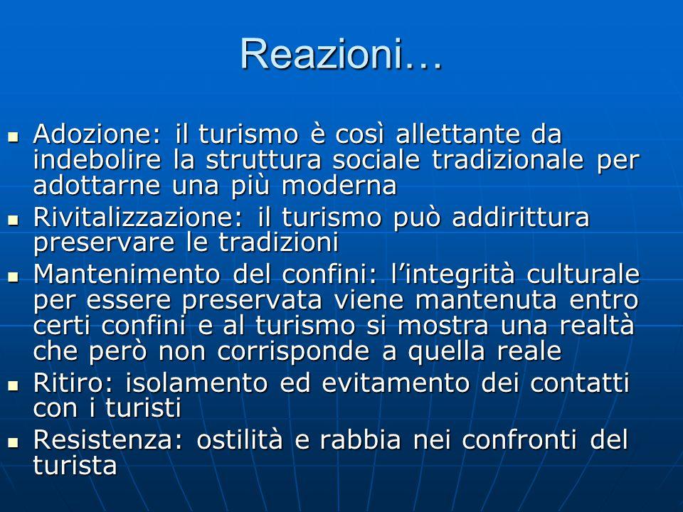 Reazioni… Adozione: il turismo è così allettante da indebolire la struttura sociale tradizionale per adottarne una più moderna.