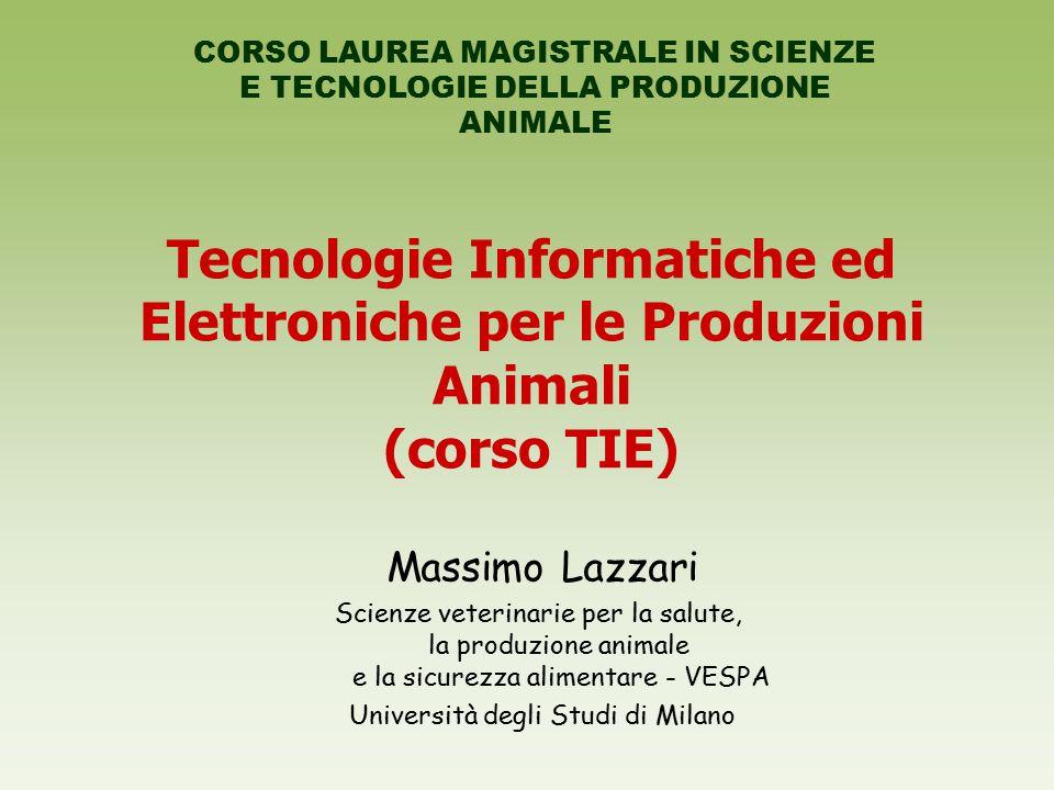 Tecnologie Informatiche ed Elettroniche per le Produzioni Animali