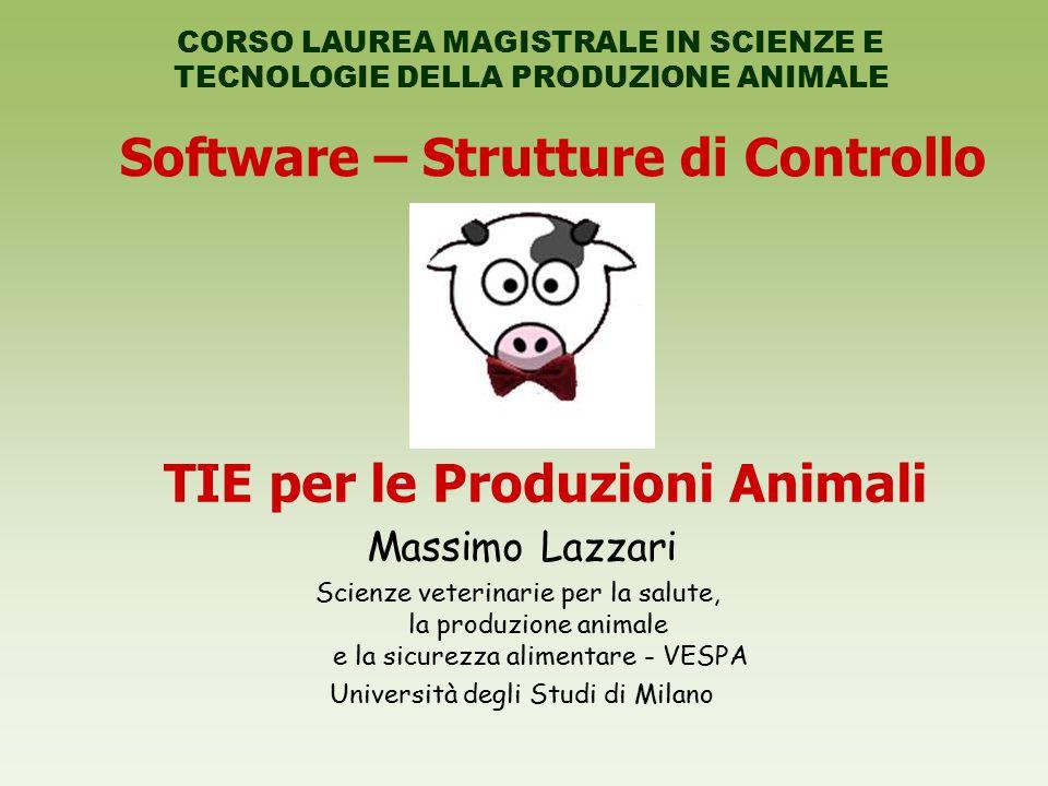 Software – Strutture di Controllo TIE per le Produzioni Animali