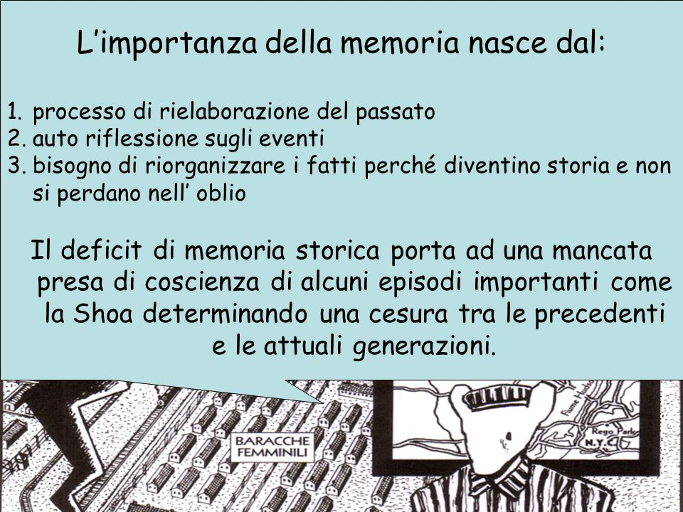 L'importanza della memoria nasce dal: