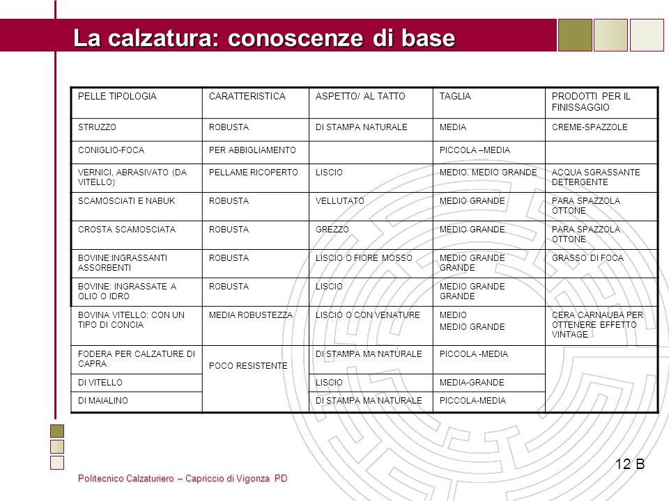 12 B PELLE TIPOLOGIA CARATTERISTICA ASPETTO/ AL TATTO TAGLIA