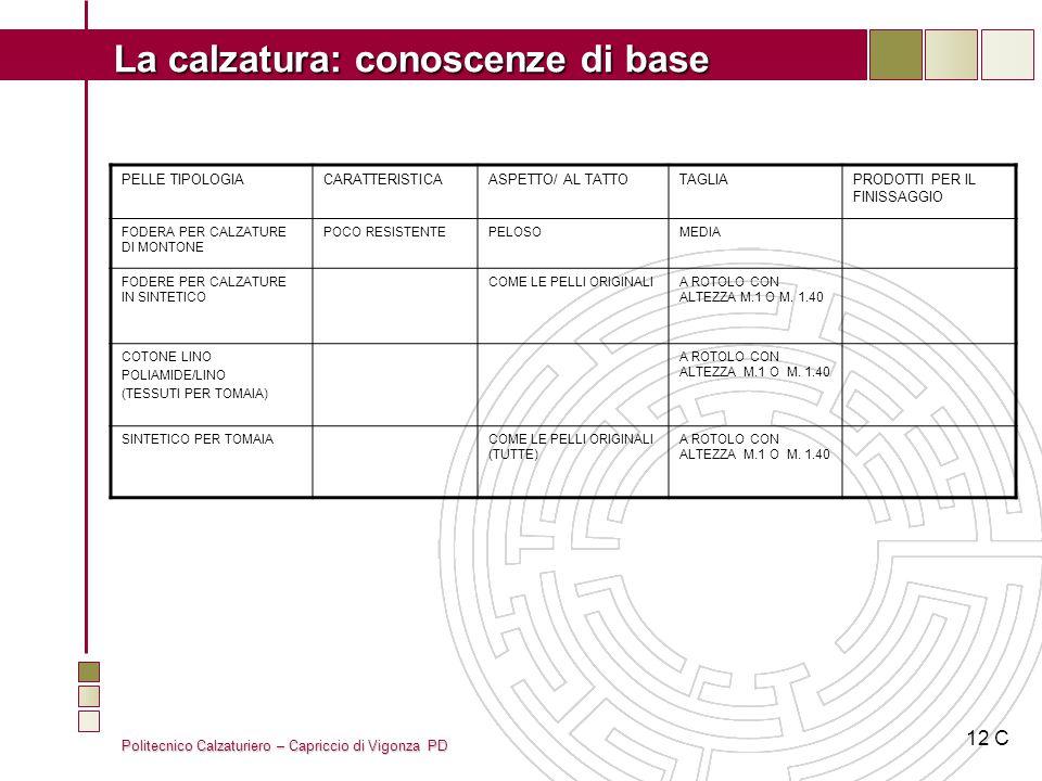 12 C PELLE TIPOLOGIA CARATTERISTICA ASPETTO/ AL TATTO TAGLIA